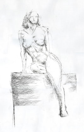 Reclining Nude, charcoal on paper 1999