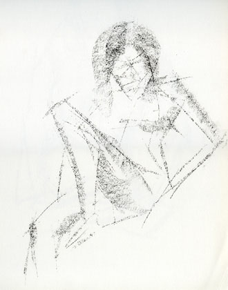 Reclining Nude 2, charcoal on paper 1999
