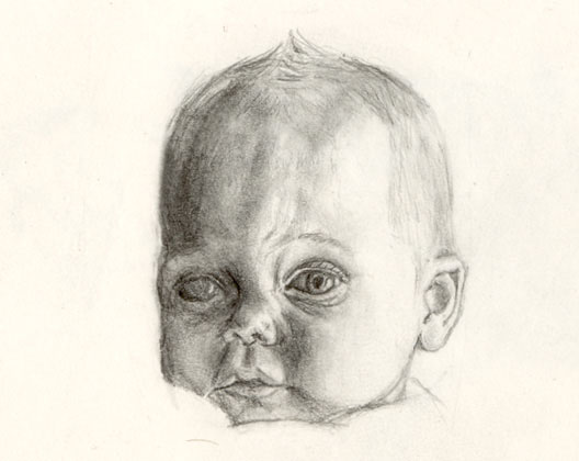 Baby, pencil drawing 1998